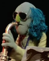 Blue Lou as a Muppet